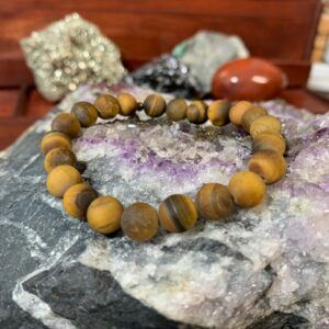 Tiger Eye Matte 8mm